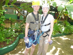 Zip lines and hair nets